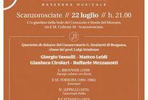 Le 4 stagioni del conservatorio: concerto e degustazione 22 luglio Scanzorosciate (BG) @enotecamoscato