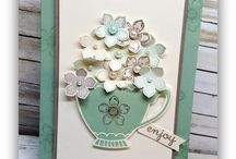 Have a Cuppa / A Nice Cuppa Stamp Set en Cups & Kettle Framelits Dies Stampin' up