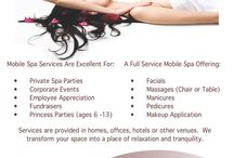 Corporate Spa Events / Spa In Your Space is a Full-Service Mobile Spa that brings unique Spa experiences to your location including your home, office, fundraiser, wedding, hotel, conventions and other special events.  We service Chicago and the surrounding suburbs.  Our services include facials, manicures, pedicures, chair massage, table massage and a-la-carte services.  800-735-0903.