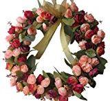 decoupage wreaths, garlands ets