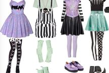 fashion: pastel goth / kawaii / ++ / Pastels, pastel goth, goth, darker tones, mori (japanese), kawaii (jap), etc and so forth. ^__^