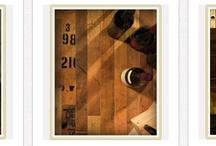 Unique Custom Wine Cellar Flooring - Oak Wine Barrels and Nautical Timbers