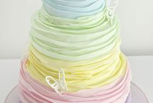 Ruffle Cake Baby Shower