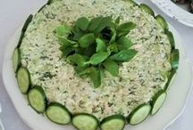kabakli tavuklu salata