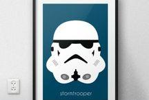 Postery z postaciami ze Star Wars (Gwiezdne Wojny)