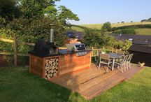 BBQ's and Pizza Ovens / A selection of images for barebecues that we have helped to supply and build. Our outdoor bbq's and pizza ovens come with bespoke made and cut slate barbecue worktops made by Ardosia.