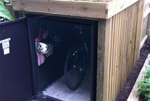 Bike and bin shed