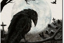 ворон и кладбище