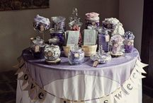 wedding candy bar vintage
