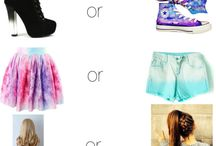 This or that / Heels or flats  Fanta or coke    Choose which one you prefer
