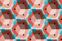 Isometric Cube Pattern / Seamless geometric ornament with three-dimensional effect.