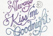 embroidery designs - sayings