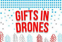 Gifts in Drones / Someone on your list dreaming of drones? Tackle a kit as a project together or give a flight-ready quad. Advanced fliers will appreciate our more complex builds and components!