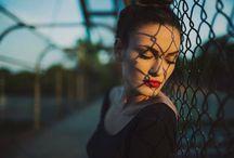 retrato feminino urbano
