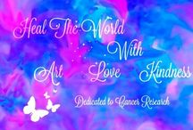 Heal the world with art love kindness