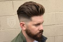 Men's hairstyle and beard