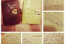 a moment to write / journaling. keeping a diary. cathartic.
