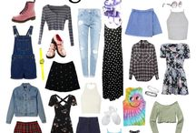 """1990s Fashion / 1990s fashion style  The important items are cropped tops, silky slip dresses or washed jeans and underwear. And the style icon is Madonna or Winona Ryderor Drew Barrymore . And the brand such as Clavin Klein, Marc Jacobs . The hairstyle """"The Rachel"""" haircut is very popular."""