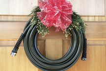 Great Gifts for the Gardener / We thought why not make the perfect gift for the gardener by making two gifts out of one.  A Water Right garden hose that gifts during the holidays as a wreath and then re-gifts itself in the spring and summer for watering.  Beautifully accented with Oregon grown scented cedar and douglas fir cones.