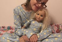 Matching girl doll pajamas