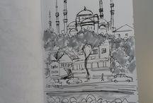 istanbul drawings, istanbul çizimleri, istanbul desenleri / istanbul