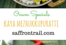 Onam Recipes / Vegetarian recipes from Kerala that are a part of the banana leaf feast - Onam Sadya