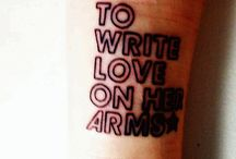 to write love on her arms. / by Molly Joy Kouba
