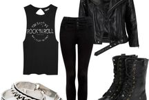 Rock Concert Looks / Outfits and ideas for when you're letting your hair down and rocking to your favourite band.