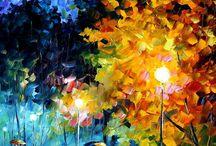 Leonid Afremov paintings 75x100