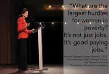 Let It Snowe / The Women's Fund welcomed Senator Olympia Snowe on March 4, 2014.