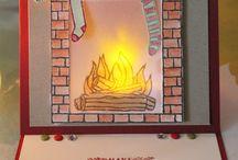 Cards - Festive Fireplace