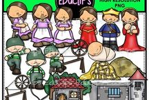 Educlips Stories & Rhymes Clip Art / Clip art sets based on stories, fairy tales and rhymes.