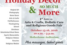 Holiday Decor & More / This is a special 2-day fall event! It is the 1st Annual Arts & Crafts, Holistic Care and Religious Goods Fair. All proceeds will support the mission of the Franciscan Sisters of the Sacred Heart.