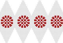 strikket julekugle