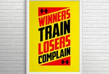 Gym Posters / Gym posters and Motivational Fitness posters to help you through your training.