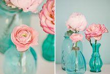 Wyzwanie z UHK Gallery - Temat: 3 kolory: szary, turkusowy i róż + piórko-