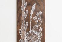 illustration on wood