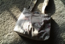 handmade bags / These are handmade bags, with line and antique cotton. I love sewing!