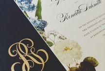 Unique wedding invitations.