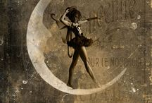 It's Only a Paper Moon / Homage to vintage paper moon settings in early photography.