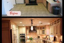 Before and Afters - Kitchen Remodeling / A quick glance at amazing kitchen transformations designed by the Mr Cabinet Care team.