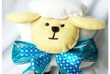 Pequeno Príncipe, ovelha e raposa / Bonecos da história os bonecos são feitos em feltro. Ideal para crianças pequenas, decoração de festas infantis.