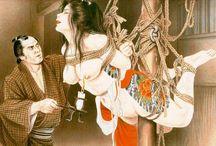 Ozuma Kaname / Nude women & wabori (japanese style tattooing) by painter Ozuma Kaname.