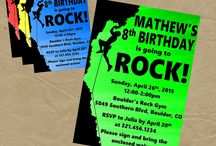 Outdoor adventure birthday invite