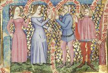 Stroje damskie XIVw   Female garments XIV century