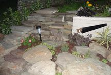 my gardens / stone walls, living walls, flower beds