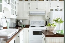 Kitchen Reno / It is bound to happen, I can't stand my peach kitchen and it must go. / by Kendrah Greer
