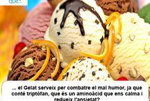 Gelat / Helado  / Aquí trobaràs curiositats sobre el gelat / Aquí encontrarás curiosidades sobre el helado