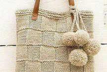 knitted bags and purses