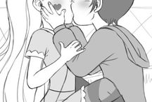 Star y Marco beso
